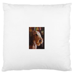 Airedale Terrier Large Flano Cushion Case (One Side)