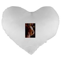 Airedale Terrier Large 19  Premium Flano Heart Shape Cushions