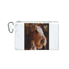 Airedale Terrier Canvas Cosmetic Bag (S)