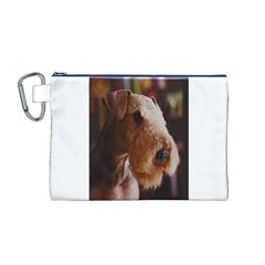 Airedale Terrier Canvas Cosmetic Bag (M)