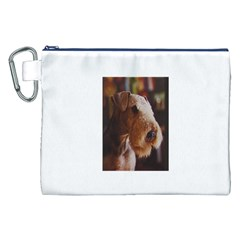 Airedale Terrier Canvas Cosmetic Bag (XXL)