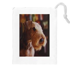 Airedale Terrier Drawstring Pouches (XXL)