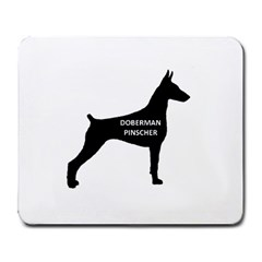 Doberman Pinscher Name Silhouette Black Large Mousepads