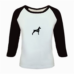 Doberman Pinscher Name Silhouette Black Kids Baseball Jerseys