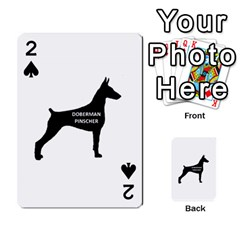 Doberman Pinscher Name Silhouette Black Playing Cards 54 Designs