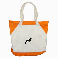 Doberman Pinscher Name Silhouette Black Accent Tote Bag