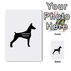Doberman Pinscher Name Silhouette Black Multi-purpose Cards (Rectangle)