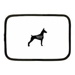 Doberman Pinscher Name Silhouette Black Netbook Case (Medium)