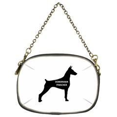 Doberman Pinscher Name Silhouette Black Chain Purses (One Side)