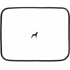 Doberman Pinscher Name Silhouette Black Fleece Blanket (Mini)