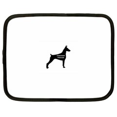 Doberman Pinscher Name Silhouette Black Netbook Case (XL)