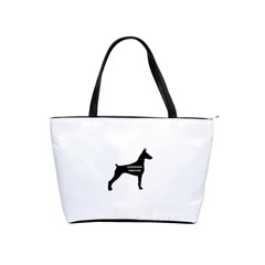 Doberman Pinscher Name Silhouette Black Shoulder Handbags