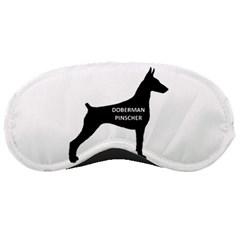 Doberman Pinscher Name Silhouette Black Sleeping Masks