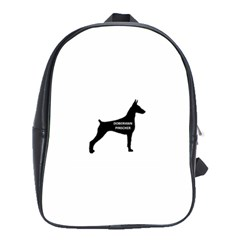 Doberman Pinscher Name Silhouette Black School Bags(Large)