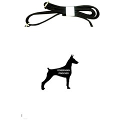 Doberman Pinscher Name Silhouette Black Shoulder Sling Bags