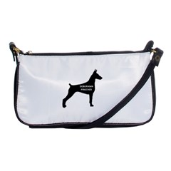 Doberman Pinscher Name Silhouette Black Shoulder Clutch Bags