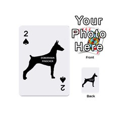 Doberman Pinscher Name Silhouette Black Playing Cards 54 (Mini)