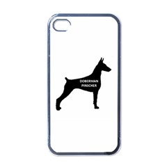 Doberman Pinscher Name Silhouette Black Apple iPhone 4 Case (Black)