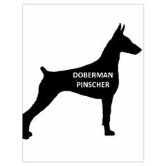 Doberman Pinscher Name Silhouette Black Drawstring Bag (Large)