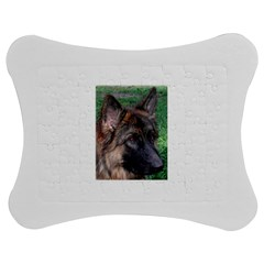 German Shepherd Jigsaw Puzzle Photo Stand (Bow)