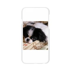 Japanese Chin Puppy Apple Seamless iPhone 6/6S Case (Transparent)