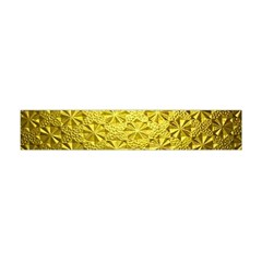 Patterns Gold Textures Flano Scarf (Mini)