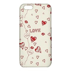 Pattern Hearts Kiss Love Lips Art Vector iPhone 6/6S TPU Case