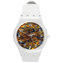 Pattern Bright Round Plastic Sport Watch (M)