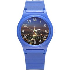 Paris At Night Round Plastic Sport Watch (S)