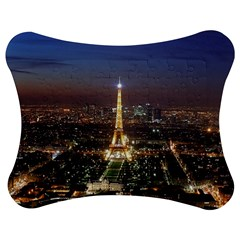 Paris At Night Jigsaw Puzzle Photo Stand (Bow)
