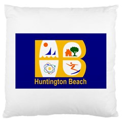 Flag Of Huntington Beach, California Large Cushion Case (two Sides)