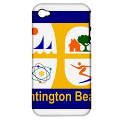 Flag Of Huntington Beach, California Apple Iphone 4/4s Hardshell Case (pc+silicone)