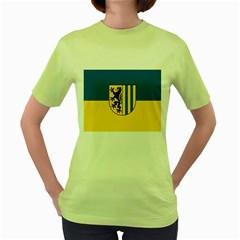 Flag Of Leipzig Women s Green T Shirt