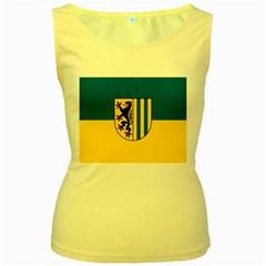 Flag Of Leipzig Women s Yellow Tank Top