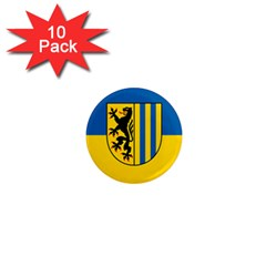Flag Of Leipzig 1  Mini Magnet (10 Pack)