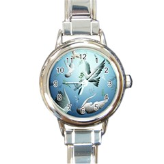 Animated Nature Wallpaper Animated Bird Round Italian Charm Watch
