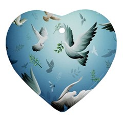 Animated Nature Wallpaper Animated Bird Ornament (heart)