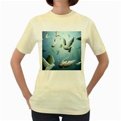 Animated Nature Wallpaper Animated Bird Women s Yellow T Shirt