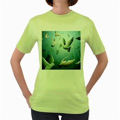 Animated Nature Wallpaper Animated Bird Women s Green T Shirt