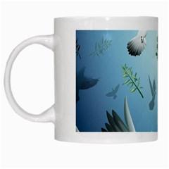 Animated Nature Wallpaper Animated Bird White Mugs
