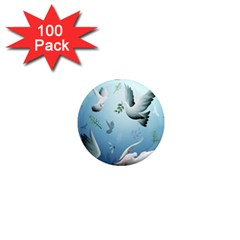 Animated Nature Wallpaper Animated Bird 1  Mini Magnets (100 Pack)
