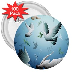 Animated Nature Wallpaper Animated Bird 3  Buttons (100 Pack)