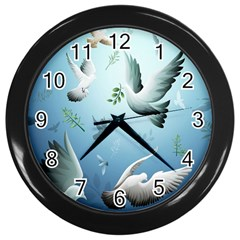Animated Nature Wallpaper Animated Bird Wall Clocks (black)