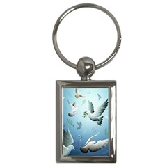 Animated Nature Wallpaper Animated Bird Key Chains (rectangle)