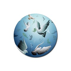 Animated Nature Wallpaper Animated Bird Rubber Coaster (round)