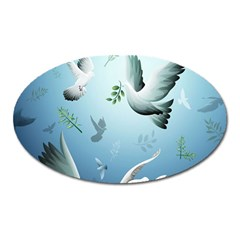 Animated Nature Wallpaper Animated Bird Oval Magnet