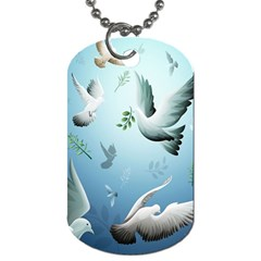Animated Nature Wallpaper Animated Bird Dog Tag (one Side)