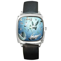 Animated Nature Wallpaper Animated Bird Square Metal Watch