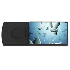 Animated Nature Wallpaper Animated Bird Usb Flash Drive Rectangular (4 Gb)