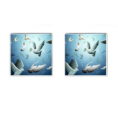 Animated Nature Wallpaper Animated Bird Cufflinks (square)